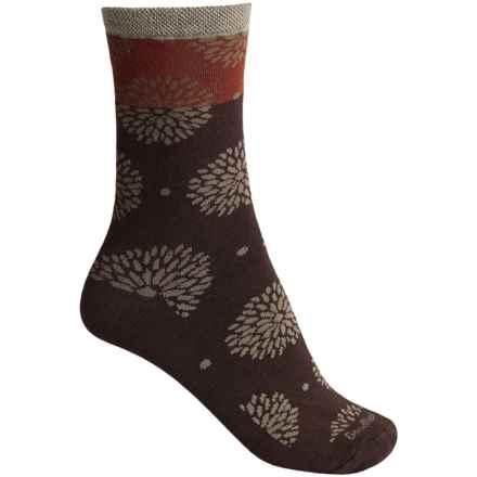Goodhew Blossom Socks - Merino Wool, Crew (For Women) in Espresso - Closeouts