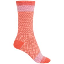 Goodhew Bow Tie Socks - Merino Wool, Crew (For Women) in Guava - Closeouts