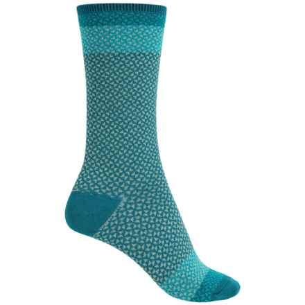 Goodhew Bow Tie Socks - Merino Wool, Crew (For Women) in Teal - Closeouts