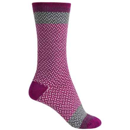 Goodhew Bow Tie Socks - Merino Wool, Crew (For Women) in Violet - Closeouts