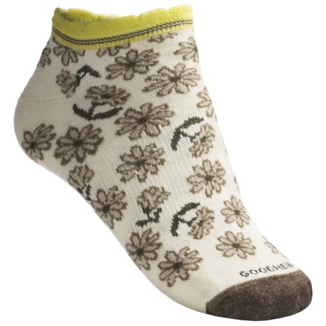Goodhew Calico Socks - Merino Wool Blend, Below the Ankle (For Women) in Natural