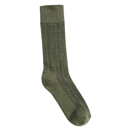 Goodhew Cambridge Dress Socks - Merino Wool (For Men) in Olive