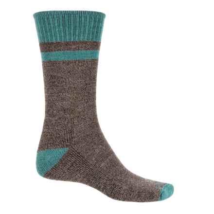 Goodhew Canyon Hiking Socks - Merino Wool-Alpaca, Crew (For Men) in Brown - Closeouts