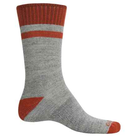 Goodhew Canyon Hiking Socks - Merino Wool-Alpaca, Crew (For Men) in Grey - Closeouts