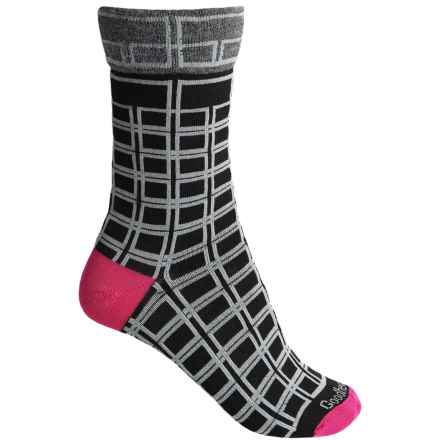 Goodhew Chick Check Socks - Merino Wool, Crew (For Women) in Black - Closeouts