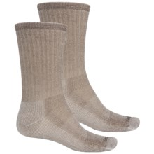 Goodhew Classic Medium Hiking Socks - 2-Pack, Merino Wool, Crew (For Men and Women) in Taupe - Closeouts