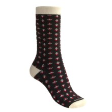Goodhew Claudia Merino Wool Socks - Crew (For Women) in Black/Cream - 2nds
