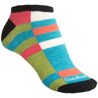 Goodhew Color Block Socks - Below the Ankle (For Women) in Black