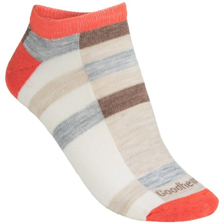 Goodhew Color Block Socks - Below the Ankle (For Women) in Guava