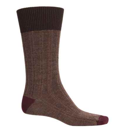 Goodhew Countryman Socks - Merino Wool Blend, Crew (For Men) in Espresso - Closeouts