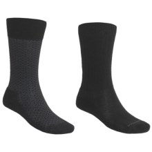 Goodhew Crew Socks - 2 pack (For Men) in Black/Black - 2nds