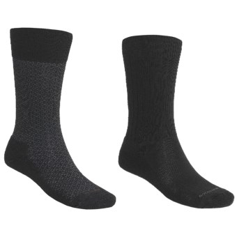 Goodhew Crew Socks - 2 pack (For Men) in Black/Black