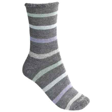 Goodhew Cushy Lounger Midweight Socks - Merino Wool Blend, Crew (For Women) in Charcoal - Closeouts
