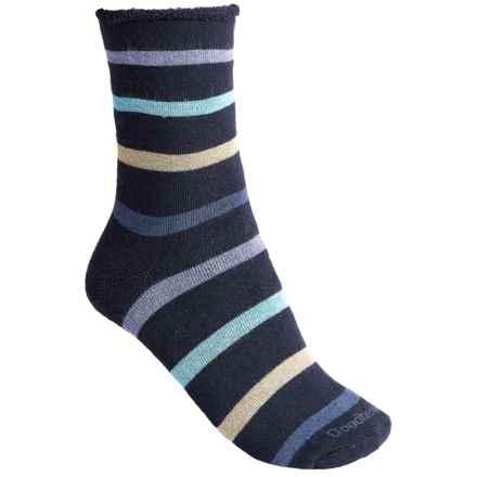 Goodhew Cushy Lounger Midweight Socks - Merino Wool Blend, Crew (For Women) in Navy - Closeouts