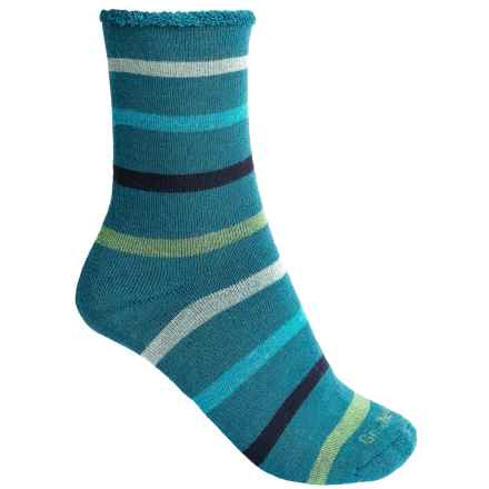 Goodhew Cushy Lounger Midweight Socks - Merino Wool Blend, Crew (For Women) in Teal - Closeouts