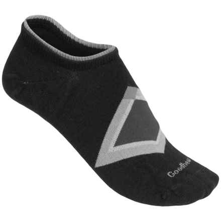 Goodhew Diamond in the Rough Socks - Cashmerino Rayon, Ankle (For Women) in Black - Closeouts