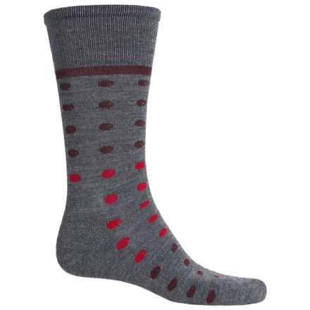 Goodhew Dotster Socks - Merino Wool, Crew (For Men) in Charcoal - Closeouts