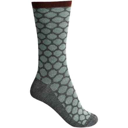 Goodhew Dotty Socks - Merino Wool, Crew (For Women) in Charcoal - Closeouts