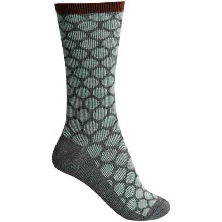 Goodhew Dotty Socks - Merino Wool, Crew (For Women) in Charcoal - Closeouts