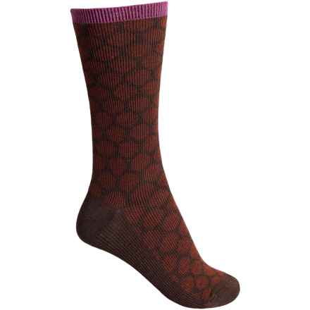 Goodhew Dotty Socks - Merino Wool, Crew (For Women) in Espresso - Closeouts
