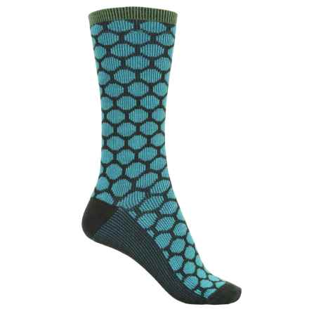 Goodhew Dotty Socks - Merino Wool, Crew (For Women) in Pine - Closeouts