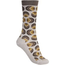 Goodhew Dotzalot Socks - Merino Wool, Mid-Calf (For Women) in Fawn - Closeouts