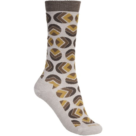 Goodhew Dotzalot Socks - Merino Wool, Mid-Calf (For Women) in Fawn