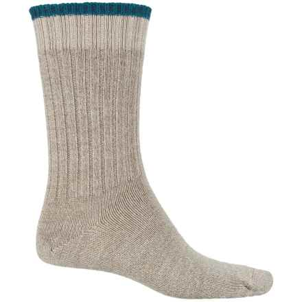Goodhew Durango Socks - Merino Wool, Crew (For Men) in Khaki - 2nds