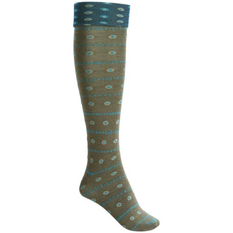 Goodhew Eliza Knee-High Socks - Merino Wool, Over-the-Calf (For Women) in Loden