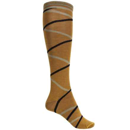 Goodhew Enwraptured Socks - Merino Wool, Over the Calf (For Women) in Ochre - Closeouts