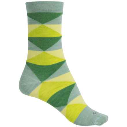 Goodhew Faceted Socks - Merino Wool Blend, Crew (For Women) in Celadon - Closeouts