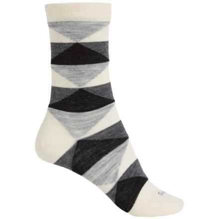 Goodhew Faceted Socks - Merino Wool Blend, Crew (For Women) in Natural - Closeouts