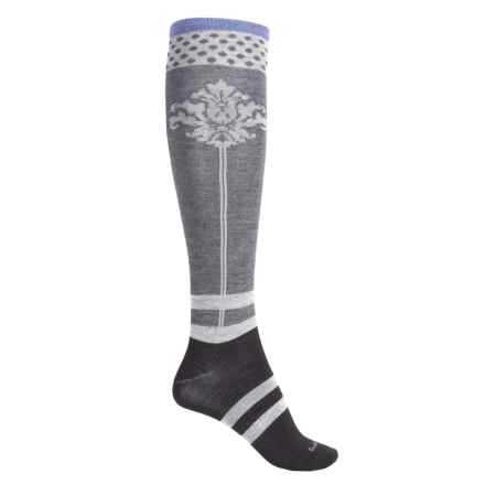 Goodhew Fleur De Plume Socks - Over the Calf (For Women) in Black - Closeouts