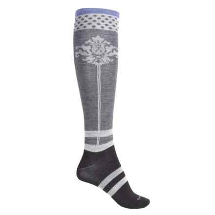 Goodhew Fleur De Plume Socks - Over the Calf (For Women) in Black - Closeouts