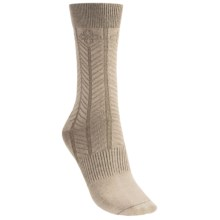 Goodhew Floral Chevron Socks (For Women) in Khaki - 2nds