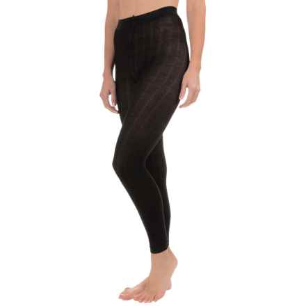 Goodhew Footless Tights - Merino Wool (For Women) in Black - Closeouts