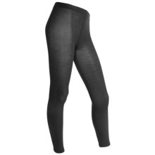 Goodhew Footless Tights - Stretch Rayon-Nylon (For Women) in Black - Closeouts