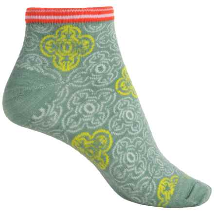 Goodhew Foulard Ankle Socks - Merino Wool Blend (For Women) in Celadon - Closeouts