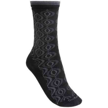 Goodhew Genie Medallion Socks - Merino Wool, Crew (For Women) in Black - Closeouts