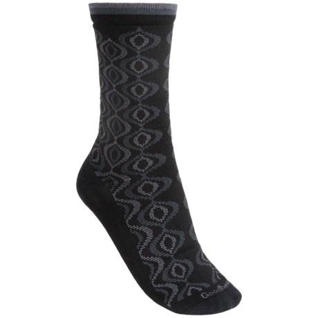 Goodhew Genie Medallion Socks - Merino Wool, Crew (For Women) in Black