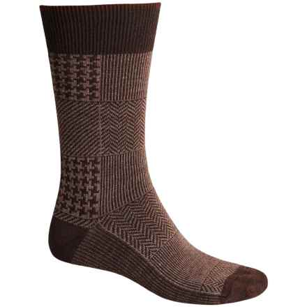 Goodhew Haberdashery Socks - Merino Wool, Crew (For Men) in Espresso - Closeouts