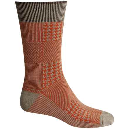 Goodhew Haberdashery Socks - Merino Wool, Crew (For Men) in Khaki - Closeouts
