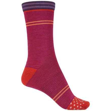 Goodhew Hepburn Socks - Merino Wool Blend, Quarter Crew (For Women) in Violet - Closeouts