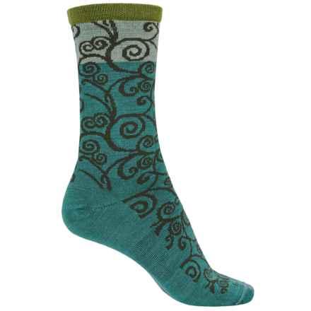 Goodhew Heraldic Swirl Socks - Crew (For Women) in Mineral - Closeouts