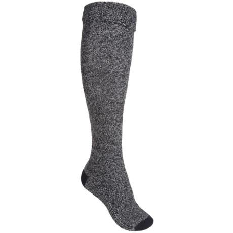 Goodhew Highlander Socks - Merino Wool Blend, Knee High (For Women) in Black Multi
