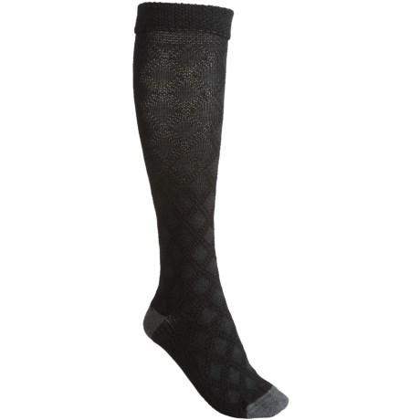 Goodhew Highlander Socks - Merino Wool Blend, Knee High (For Women) in Black