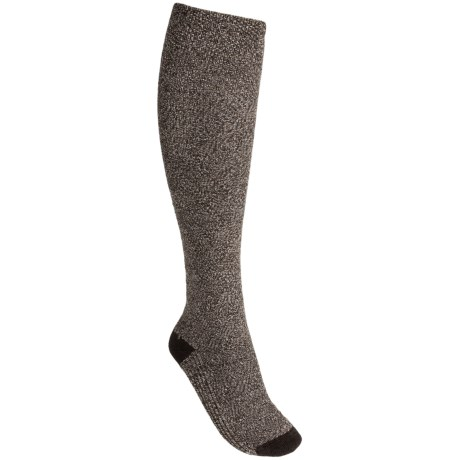 Goodhew Highlander Socks - Merino Wool Blend, Knee High (For Women) in Espresso