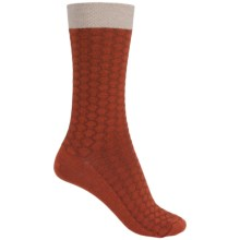 Goodhew Honeycomb Socks - Merino Wool, Crew (For Women) in Ginger - Closeouts