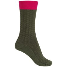 Goodhew Honeycomb Socks - Merino Wool, Crew (For Women) in Loden - Closeouts