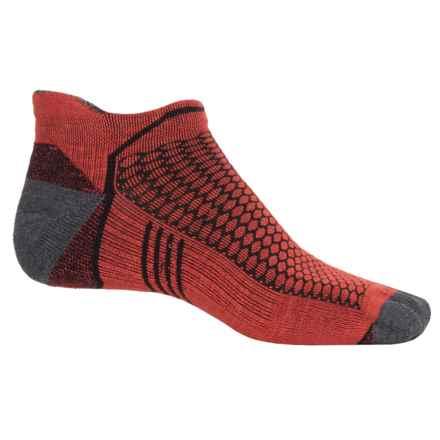 Goodhew Inspire Micro Running Socks - Merino Wool Blend, Below the Ankle (For Men) in Poppy - Closeouts
